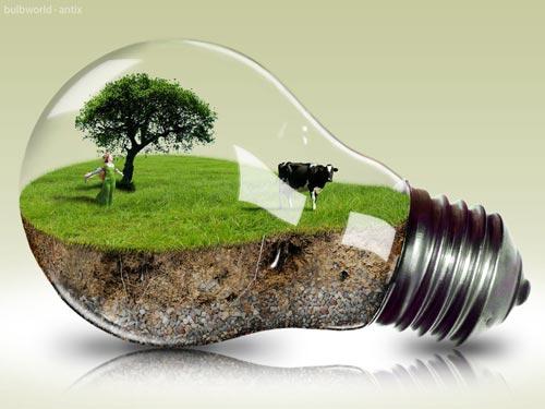 surreal photoshop art digital design world in a lightbulb